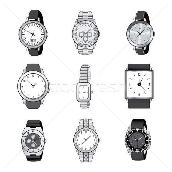 Wristwatch Elegant Collection Stock photo © Kakigori