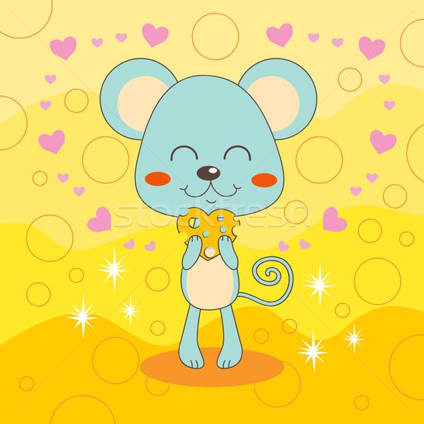 Mouse Loves Cheese Stock photo © Kakigori