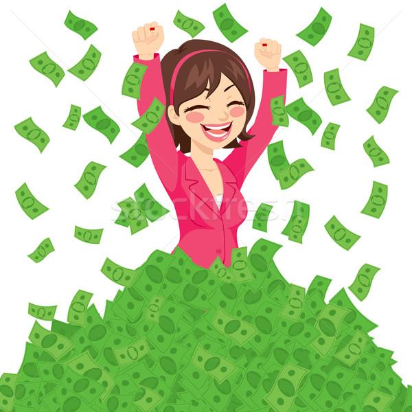 豊富な 成功した 女性実業家 幸せ 巨大な ストックフォト © Kakigori