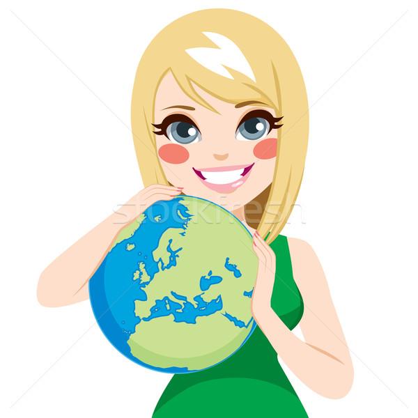 Meisje liefhebbend aarde jonge mooie tiener vector illustratie kakigori 7083993 - Tiener meubilair ruimte meisje ...