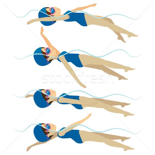 Swimming Woman Backstroke Style Stock photo © Kakigori