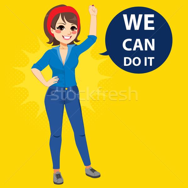 We Can Do It Woman Stock photo © Kakigori