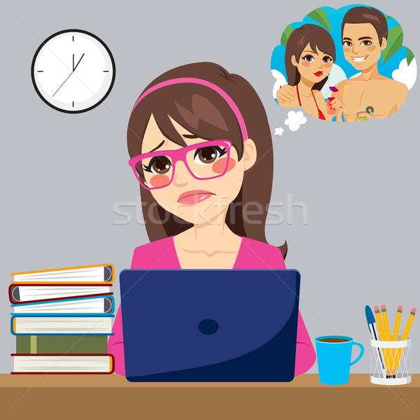 Stressed Businesswoman  Stock photo © Kakigori