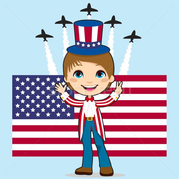 воздуха шоу мальчика Америки звезды флаг Сток-фото © Kakigori