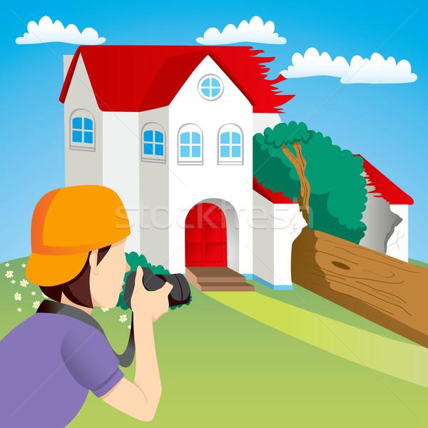 Huis ongeval nieuws fotograaf foto's Stockfoto © Kakigori
