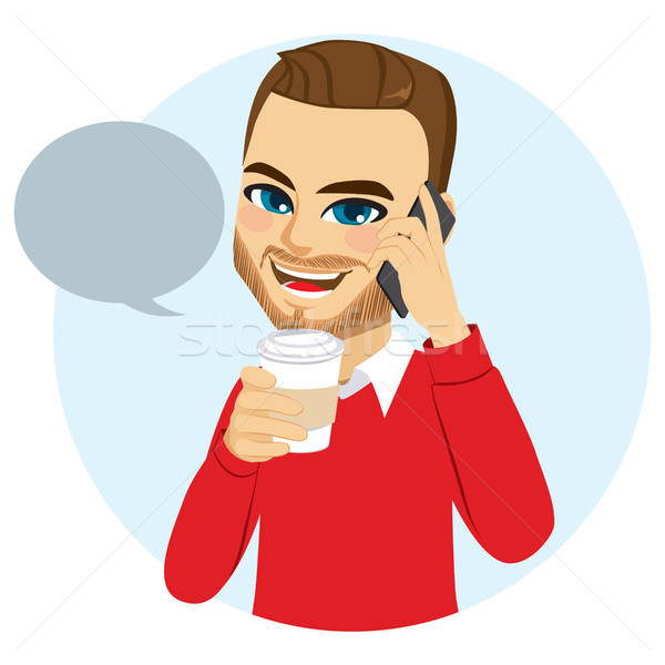 Stock photo: Casual Phone Man