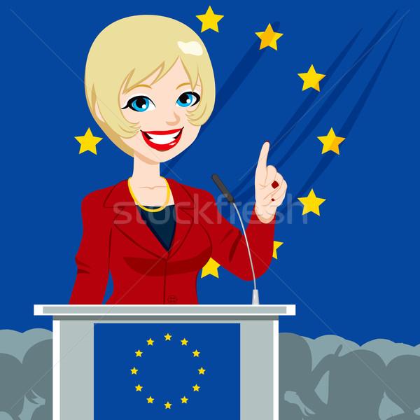 European Politician Woman Candidate Stock photo © Kakigori