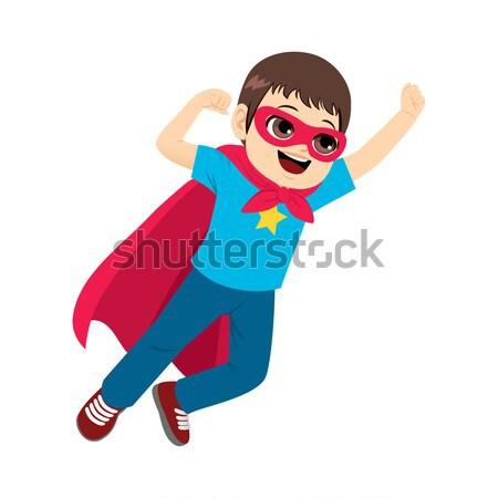 Superhero женщину Flying иллюстрация Sexy красивой Сток-фото © Kakigori