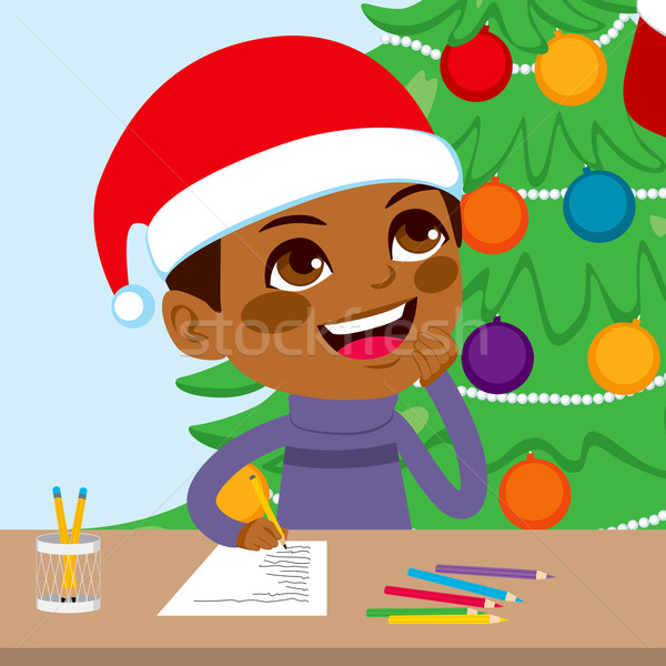 Kid Writing Santa Letter Stock photo © Kakigori