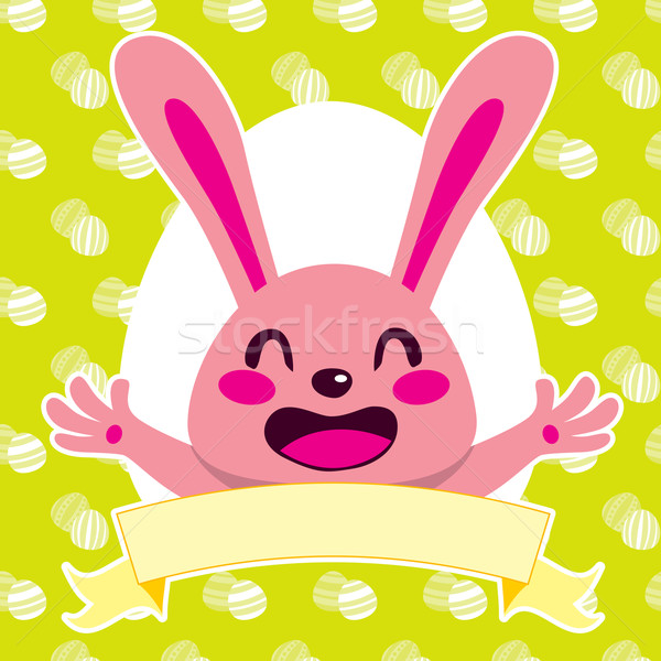 Happy Pink Bunny Stock photo © Kakigori