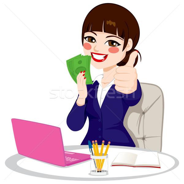Stock photo: Successful Money Businesswoman