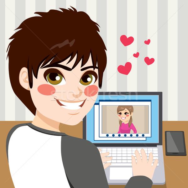 Teenager Chatting Love Stock photo © Kakigori