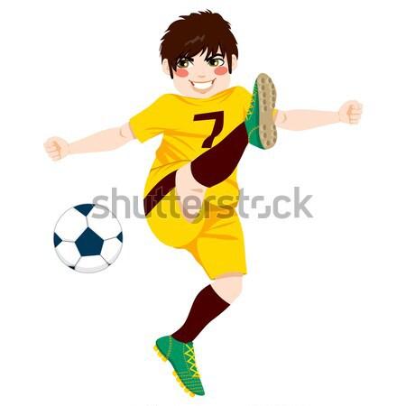 Futbolcu çekim örnek genç erkek profesyonel Stok fotoğraf © Kakigori