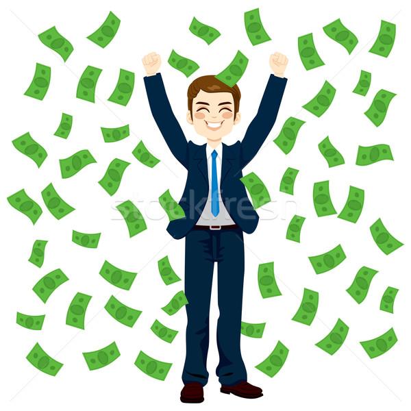 Raining Money Businessman Stock photo © Kakigori