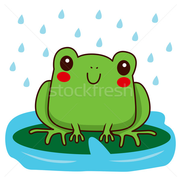 Cute Frog Smiling Stock photo © Kakigori