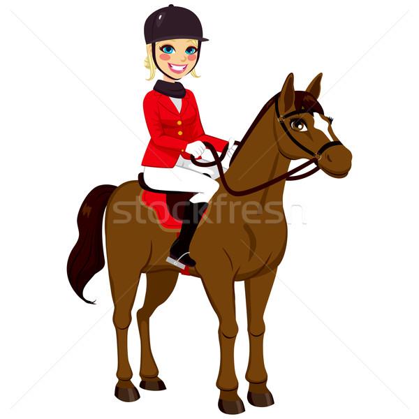 Equestrian Girl With Horse Stock photo © Kakigori