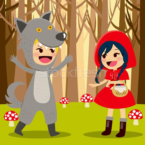 Red Riding Hood Forest Stock photo © Kakigori