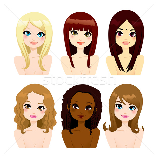 Multi-ethnic Women Long Hair Stock photo © Kakigori