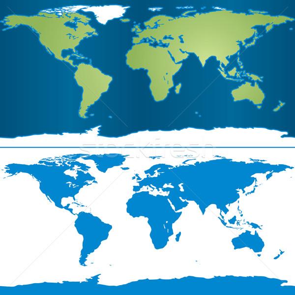 Earth Mercator Map Stock photo © Kakigori