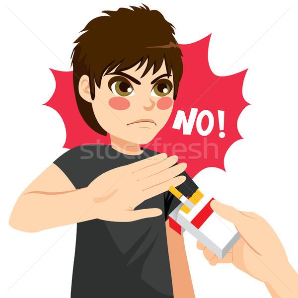 табак молодые серьезный сердиться подростку мальчика Сток-фото © Kakigori