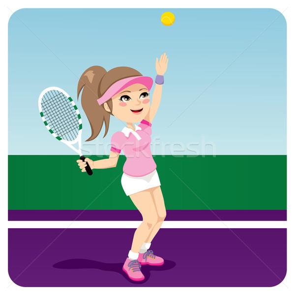 Tennis Woman Stock photo © Kakigori