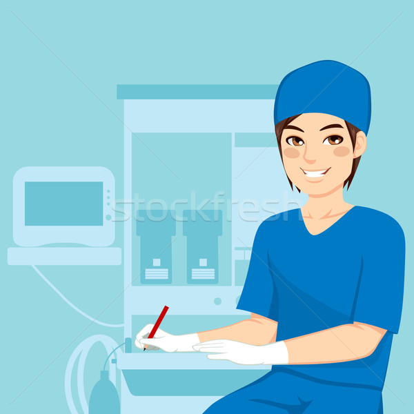 Stock photo: Male Nurse Working