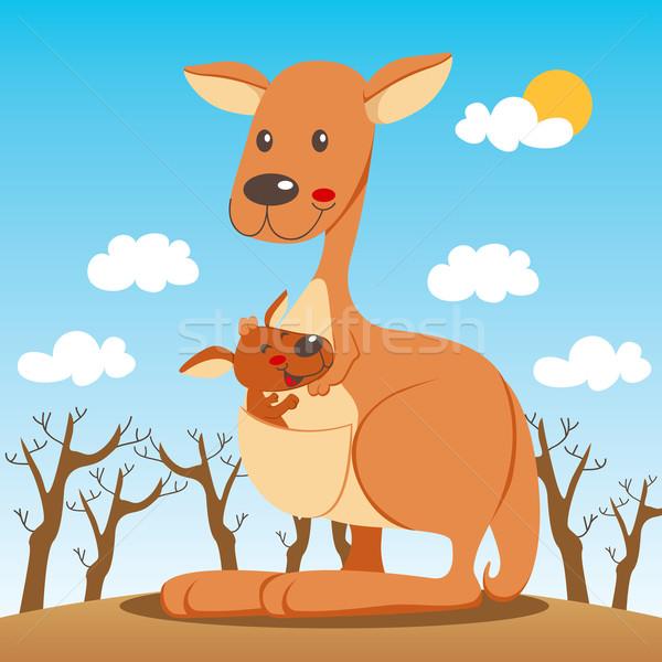 кенгуру мамы ребенка счастливым внутри семьи Сток-фото © Kakigori