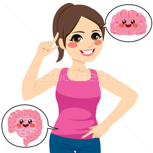 Woman Brain Intestine Stock photo © Kakigori