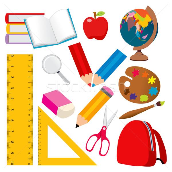 школы Элементы коллекция различный Снова в школу студент Сток-фото © Kakigori