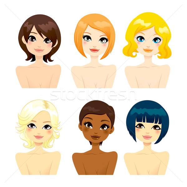 Beautiful Women Short Hair Stock photo © Kakigori