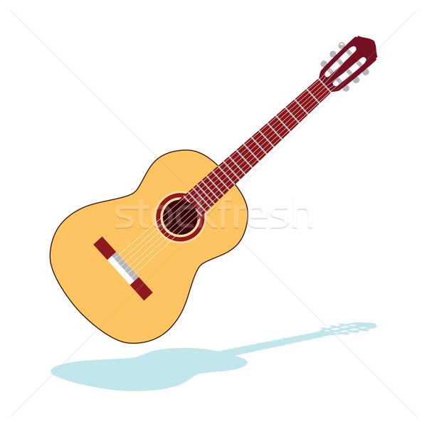 Klasyczny gitara ilustracja akustyczny dokumentu odizolowany Zdjęcia stock © Kakigori