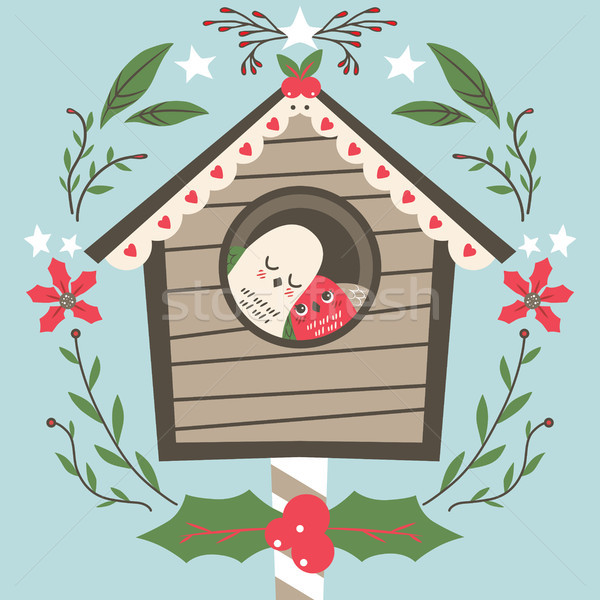 Bird House Christmas Stock photo © Kakigori