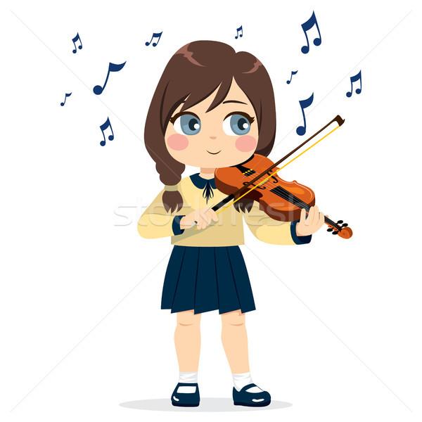 Girl Playing Violin Stock photo © Kakigori