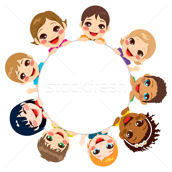 Multi-ethnic Children Group Stock photo © Kakigori