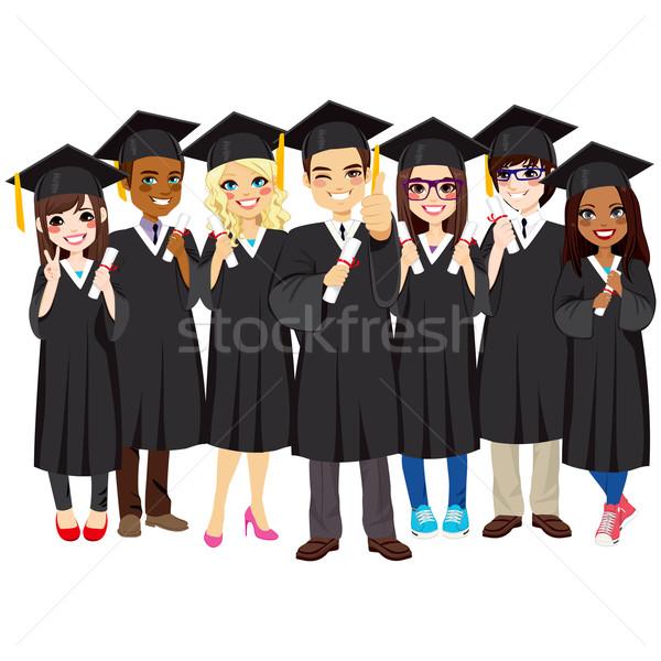 Successful Students Graduating  Stock photo © Kakigori