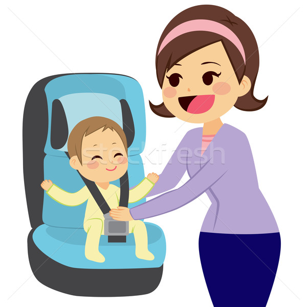 Baby On Car Seat Stock photo © Kakigori