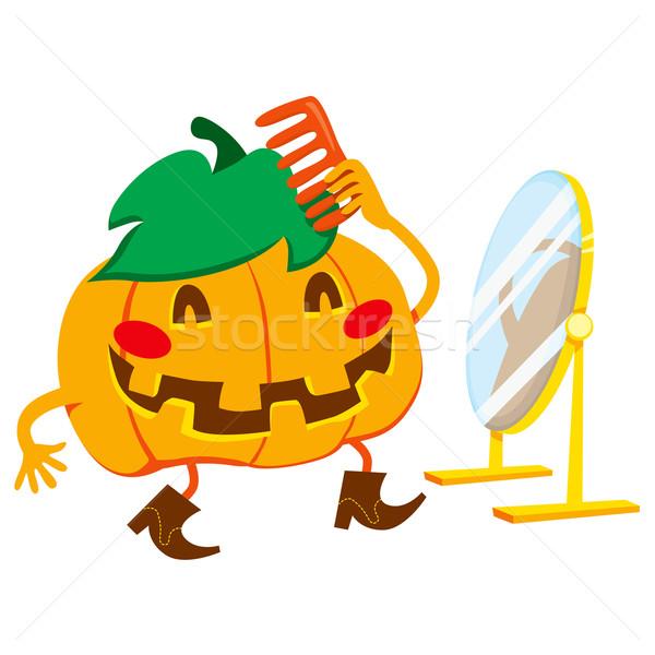 Handsome Pumpkin Man Stock photo © Kakigori