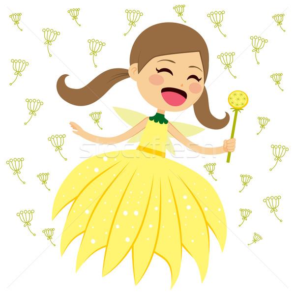 Happy Dandelion Fairy Stock photo © Kakigori