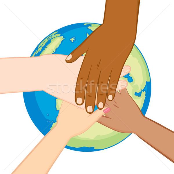 Diverse Ecology Globe Hands Stock photo © Kakigori