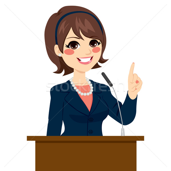 Politician Woman Speaking Stock photo © Kakigori