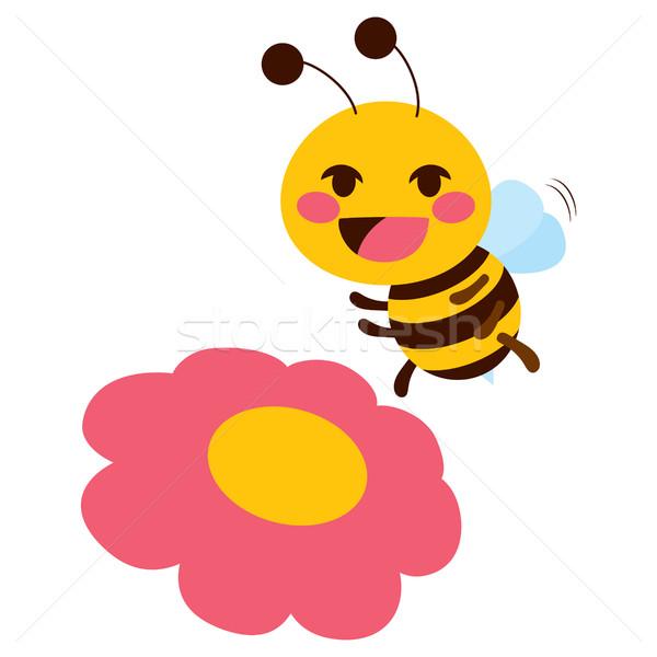 Stock photo: Flower Cute Bee