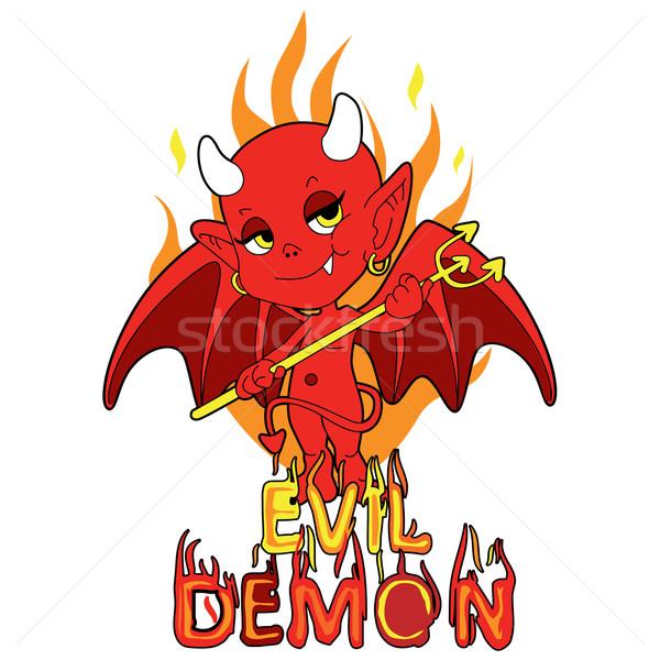 Evil Demon Boy Stock photo © Kakigori
