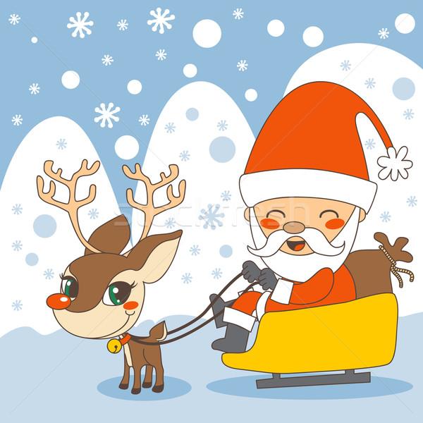Santas sleigh Stock photo © Kakigori