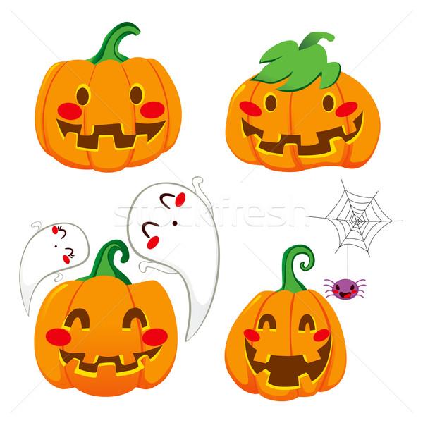 Stock photo: Funny Pumpkin Faces