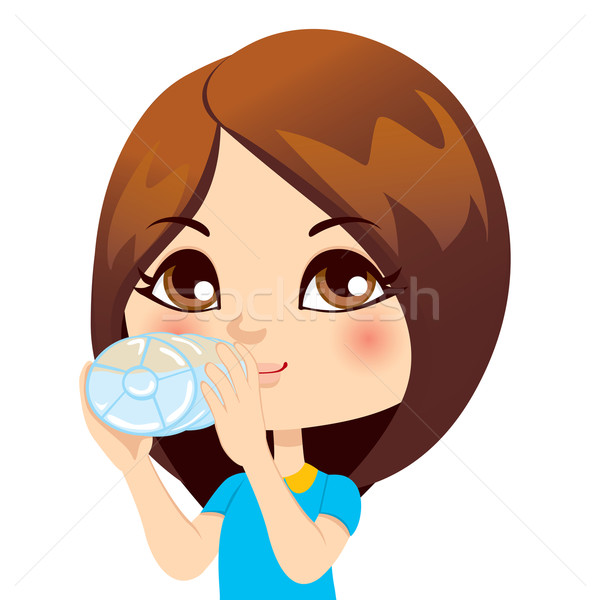 Girl Drinking Water Stock photo © Kakigori