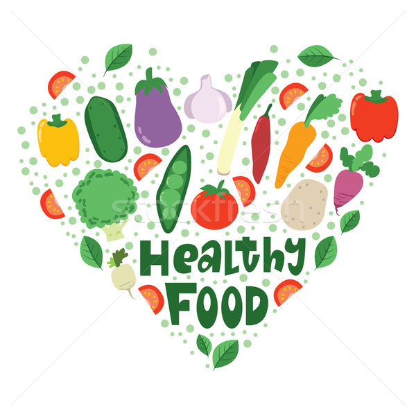 Stock photo: Healthy Food Heart