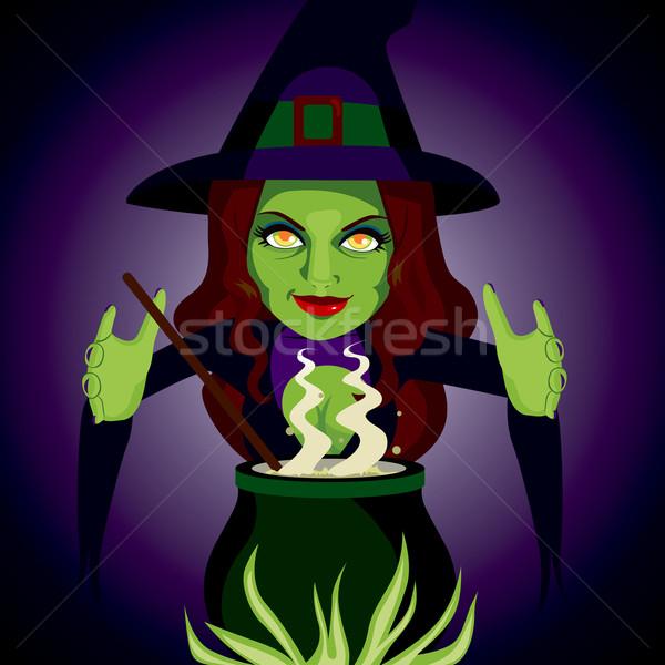 Magic Cauldron Witch Stock photo © Kakigori