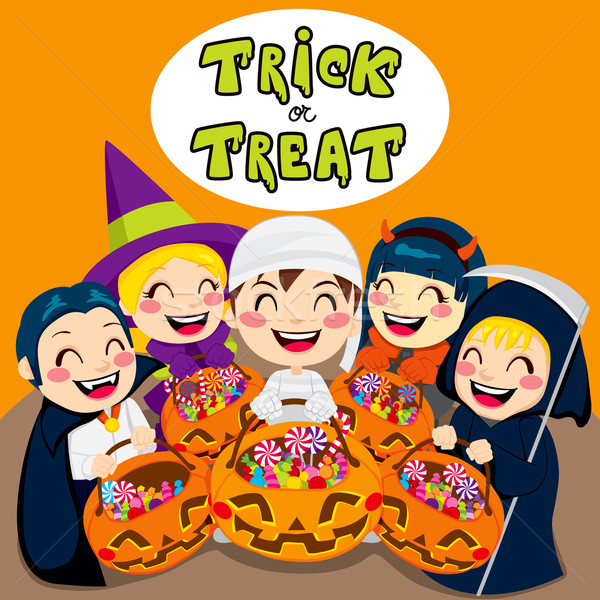 Trick Or Treat Kids Stock photo © Kakigori