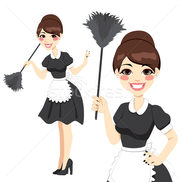 Housewife Maid Duster Stock photo © Kakigori