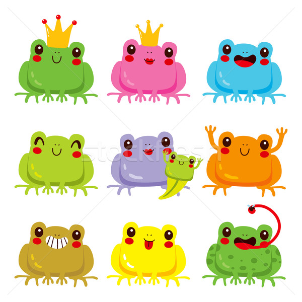 Colorful Frogs Collection Stock photo © Kakigori